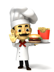 3d chef decline a fast food