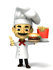 3d chef and  fast food