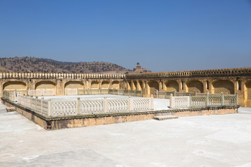 The roof of Amer fort (also known as Amber fort)