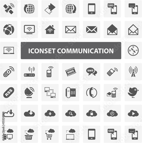 Website Iconset - Communication 44 Basic Icons