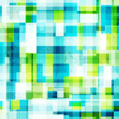 bright cells seamless pattern with grunge effect