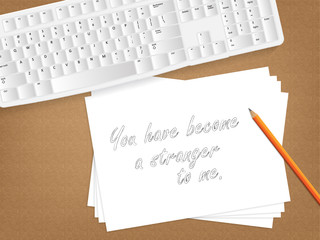 Paper message.