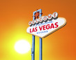 Welcome to las Vegas Sign with Setting Sun
