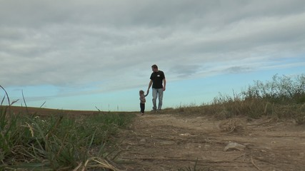 promenade avec papa