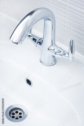 beautiful shiny faucet