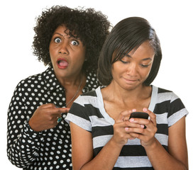 Mad Mom with Teen on Phone