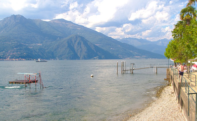 Beach on the lake, Bellagio, Como Lake