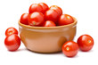 Cherry tomatoes in ceramics bowl