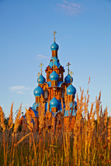 Transfiguration Church in Star City. Moscow region. Summer sunny