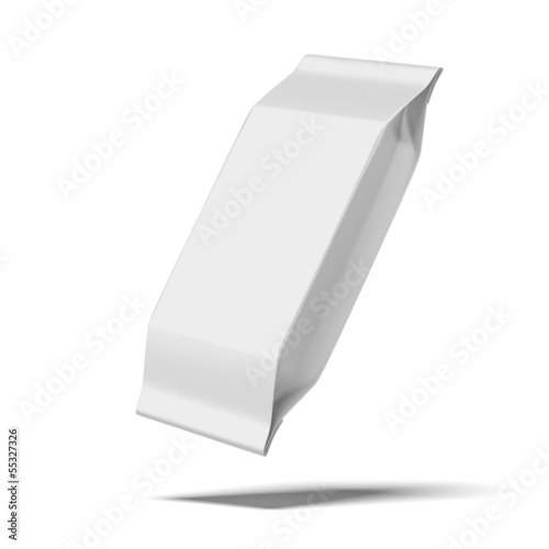 blank white food packaging