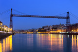 Hanging bridge between Portugalete and Getxo. Vizcaya, Basque Co poster