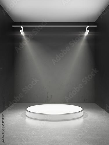 Papiers peints Lumiere, Ombre Empty stage in spot lights