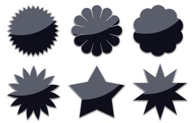 Badget, Sterne, schwarz