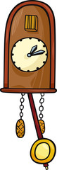 cuckoo clock clip art cartoon illustration