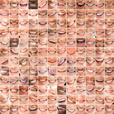 Collage of bright smiles