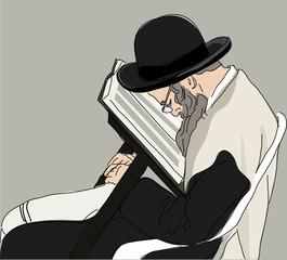 religious Jew reads the Torah