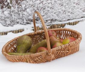 Fresh healthy fruit in winter.