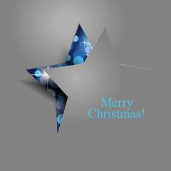 Weihnachtsstern blau