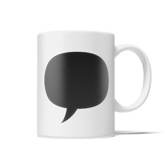 cup with speech bubble