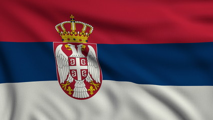 Flag of Serbia looping