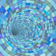 mosaic tile tunnel pipe in blue purple
