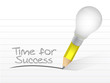 time for success written on a notepad