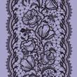 Vertical Seamless Pattern Black Lace