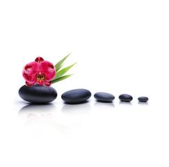 Kieselsteine mit Blume