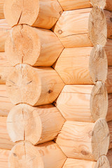 wooden wall from timber