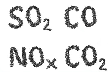 formula emissions from pieces of coal