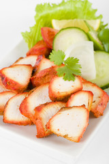 Chicken Tikka - Spicy marinated chicken served with salad