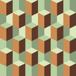 abstract retro geometric three dimension pattern
