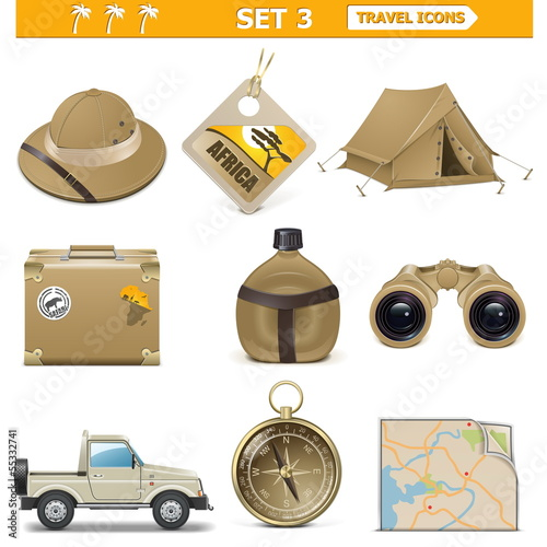 Vector travel icons set 3 - 55332741