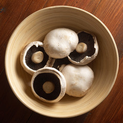 Mushrooms in bowl