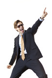 Ecstatic businessman celebrating deal