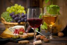 """Постер, картина, фотообои """"Wine and cheese"""""""