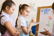 Children drawing and painting
