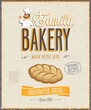 Vintage Bakery Poster. Vector illustration.