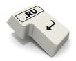 """Клавиша """"ВВОД"""" клавиатуры с доменным именем """".RU"""""""
