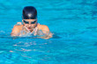 Breaststroke, copy space