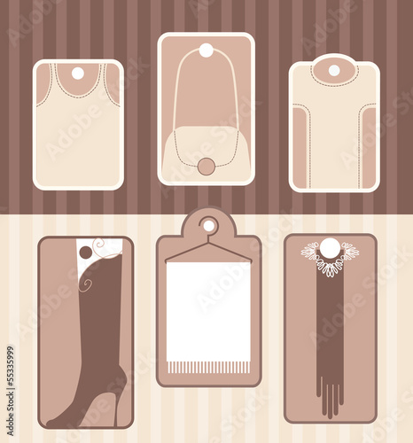 Set of labels for accessory or clothes