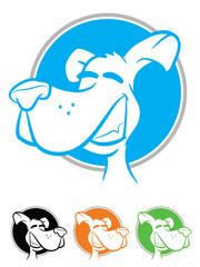 Illustration of a smiling dog icon set