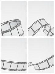 film reel background set