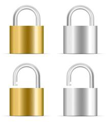 padlock icon set