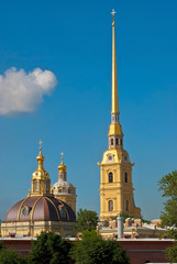 Cathedral bell tower and the dome.