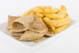Donner Meat & Chips - Spicy lamb kebab slices served with fries