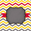 Abstract card with frame on geometric background