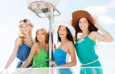 girls on boat or yacht