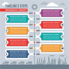 Infographic Vector Concept - Timeline & Steps