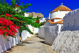religious Greece.Patmos island. churches and monastery - 55337374